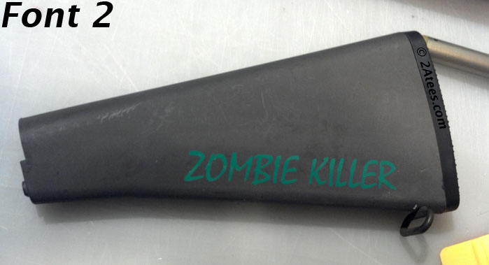 Zombie Killer Sticker 2